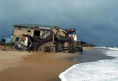 A home damaged by Hurricane Dennis, 2005